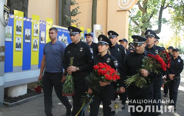 У Харкові попрощалися з убитим біля мерії поліцейським