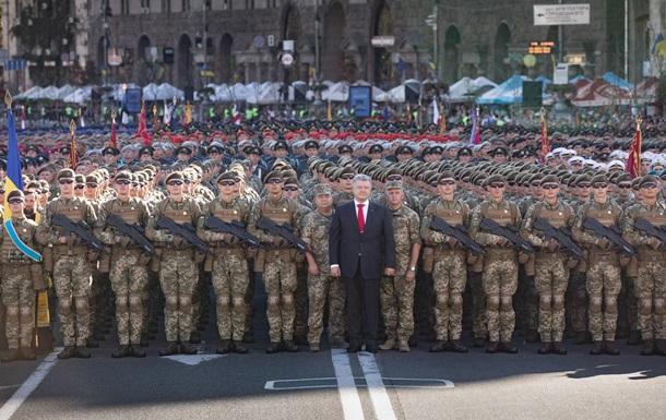 Порошенко відвідав генеральну репетицію параду