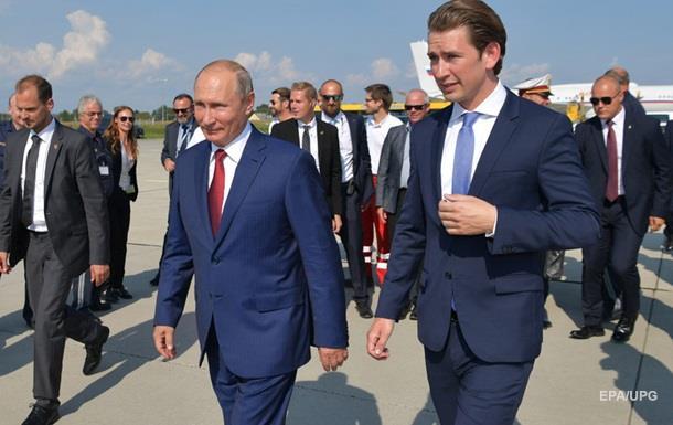 Позиція Австрії щодо РФ не змінилася через візит Путіна