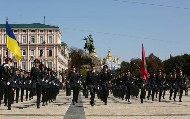 Прикордонники провели в Києві патріотичний флешмоб