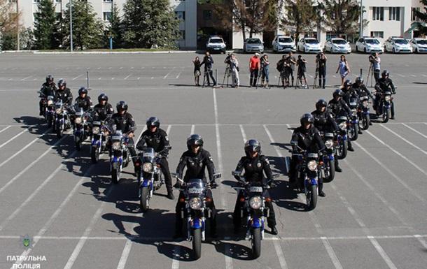 В Киеве появились полицейские на мотоциклах