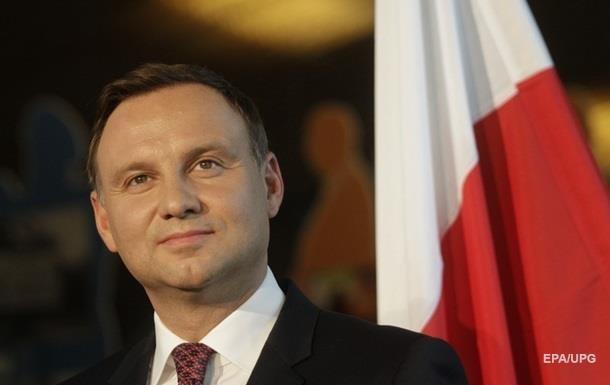 Дуда привітав Україну з річницею незалежності