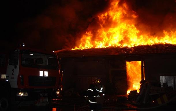 В центре Львова произошел крупный пожар