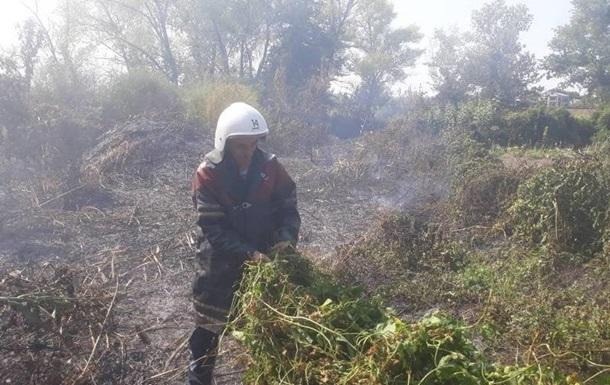 Кременчук оповило димом через пожежі навколо міста