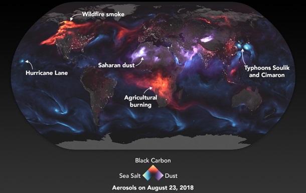 NASA створило карту невидимих хмар дрібного пилу
