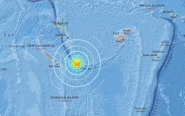 У Тихому океані стався землетрус магнітудою 7,1