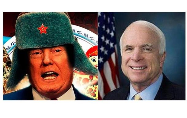 Трамп, який ні дня не служив в армії, заборонив називати Маккейна героєм