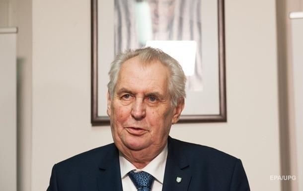 Президент Чехии предложилЕС отменить санкции противРФ