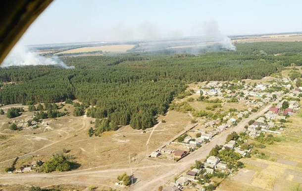Під Харковом три доби гасили лісову пожежу