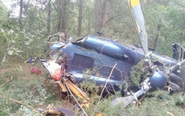 В Киеве упал вертолет, есть пострадавшие