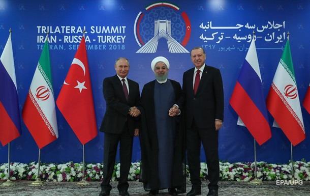 Саміт РФ, Ірану та Туреччини вирішує долю Сирії