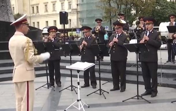 У Львові оркестр Нацгвардії влаштував флешмоб