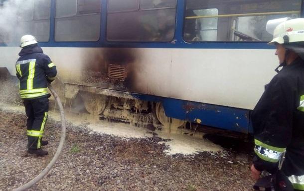 В Запорожье произошел пожар в трамвае
