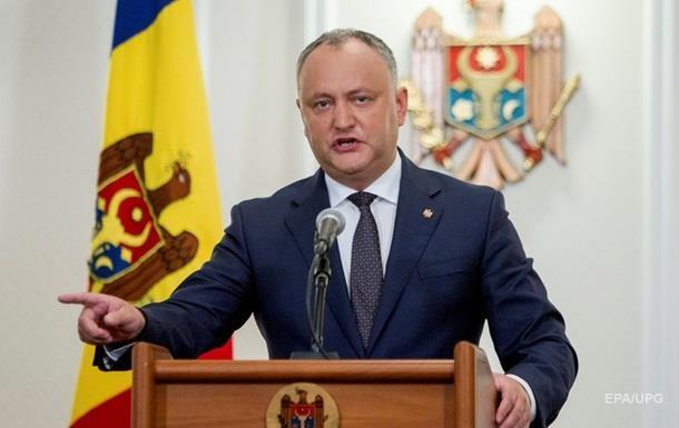 В Молдове президент временно отстранен от должности