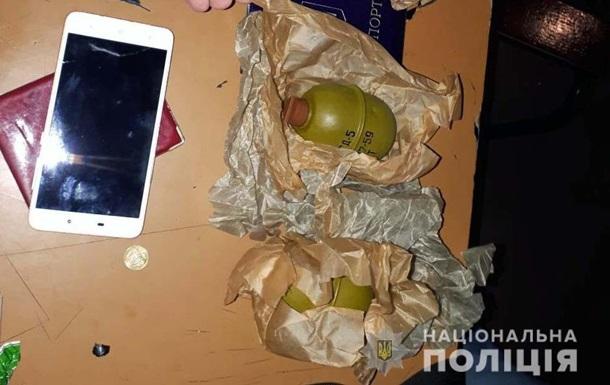 В метро Киева у мужчины изъяли гранаты