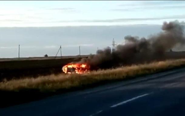 Під Бердянськом дотла згорів автомобіль