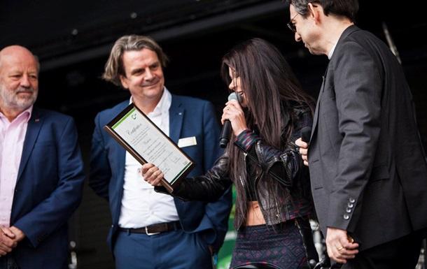 Руслана стала глобальним амбасадором відновлюваної енергії