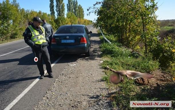 У Миколаївській області авто на великій швидкості на смерть збило пішохода