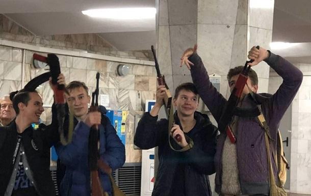 У Харкові школярів з  автоматами  не пускали в метро