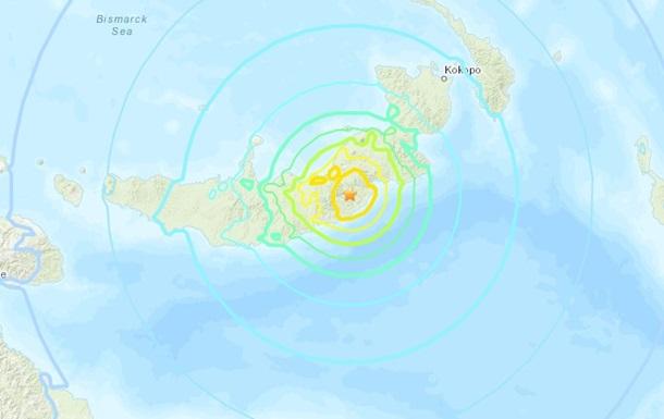 Біля берегів Папуа-Нової Гвінеї сталася серія землетрусів