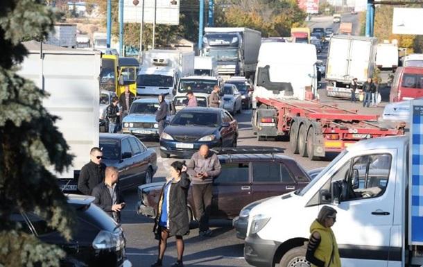 В Одесі автомобілісти перекривали в їзд в місто
