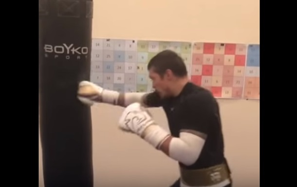 Усик показал подготовку к бою под песню Цоя