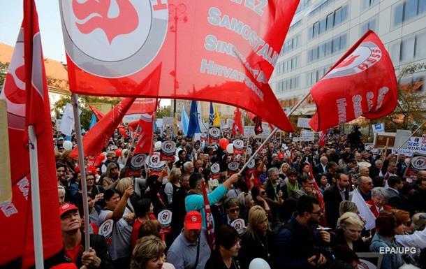 У Хорватії протестують проти підвищення пенсійного віку