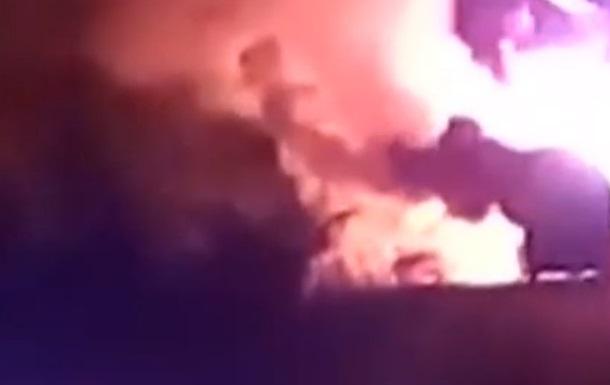Во Львовской области загорелся автобус с туристами