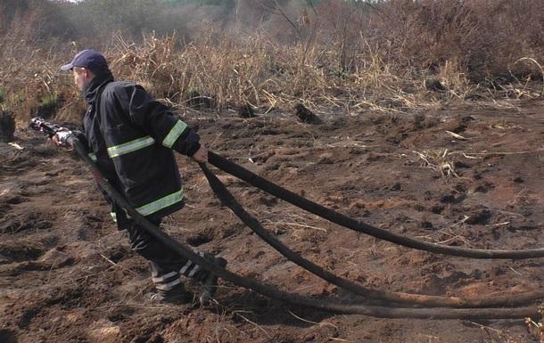В Черниговской области горят торфяники