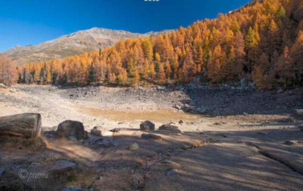 В Италии исчезло знаменитое горное Голубое озеро