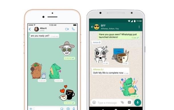 Новинка: умесенджері WhatsApp з'явилися стікери