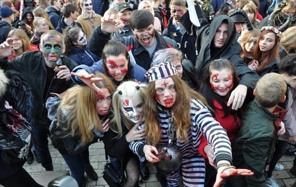 В Киеве прошел парад  зомби