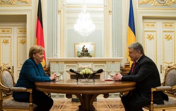 Порошенко назвав головну тему зустрічі з Меркель