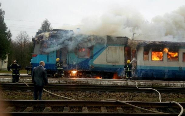 В Ровненской области горел пассажирский поезд