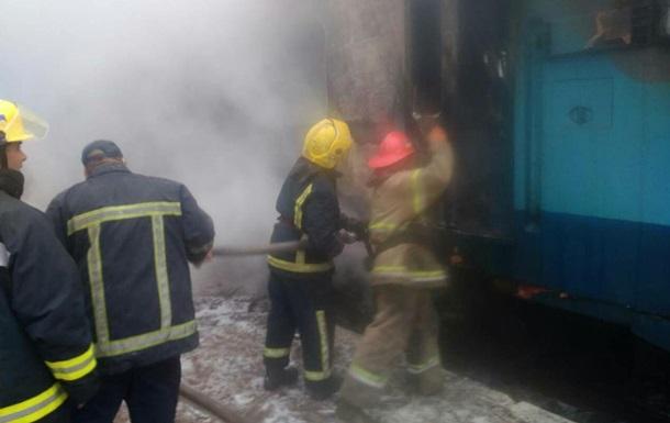 В Ровенской области горел тепловоз
