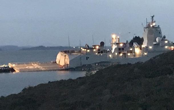 У Норвегії фрегат зіткнувся з танкером, є постраждалі