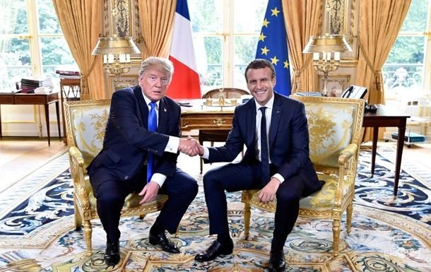 В Париже проходит встреча Макрона с Трампом