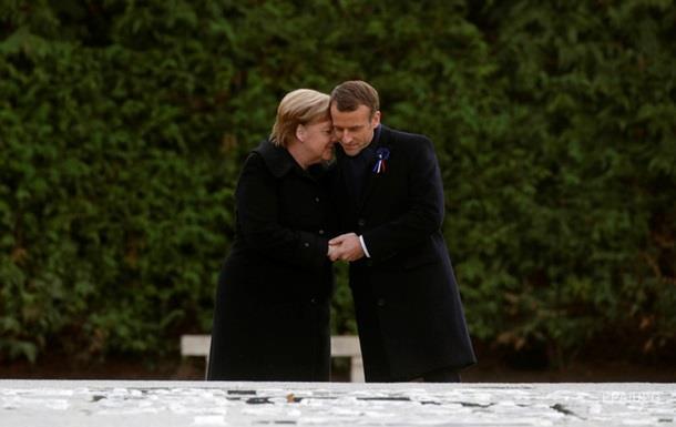 Макрон и Меркель открыли памятный знак к годовщине окончания Первой мировой