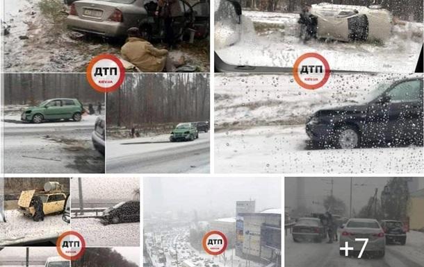 У Києві з початку снігопаду сталося понад 300 ДТП