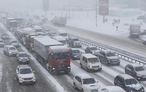 Первый снег в Киеве 14 ноября