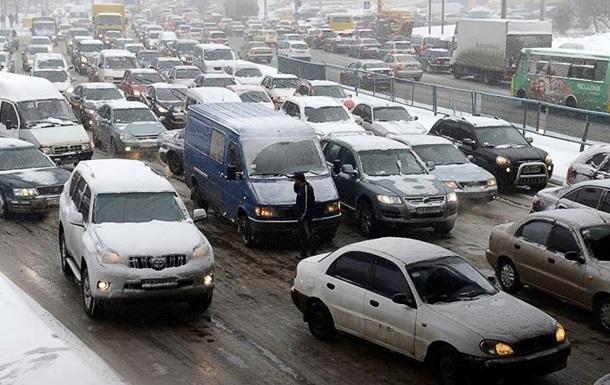 Киев остановился в пробках