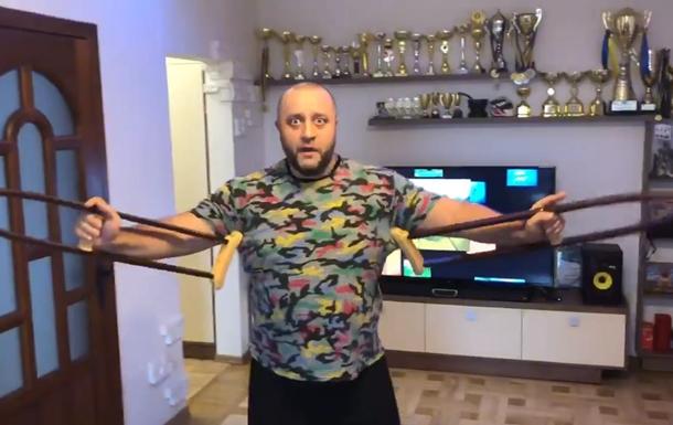 Актер Дизель шоу снял забавное видео с костылями