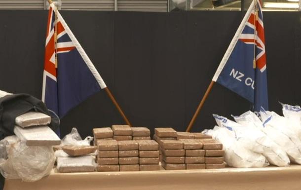 У Новій Зеландії вилучили найбільшу в історії країни партію кокаїну