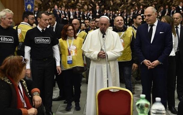 Папа Римський нагодував три тисячі бідняків