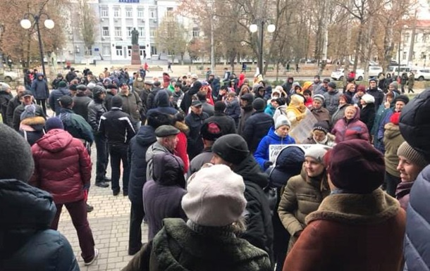 Херсонці мітингують через підвищення цін на проїзд