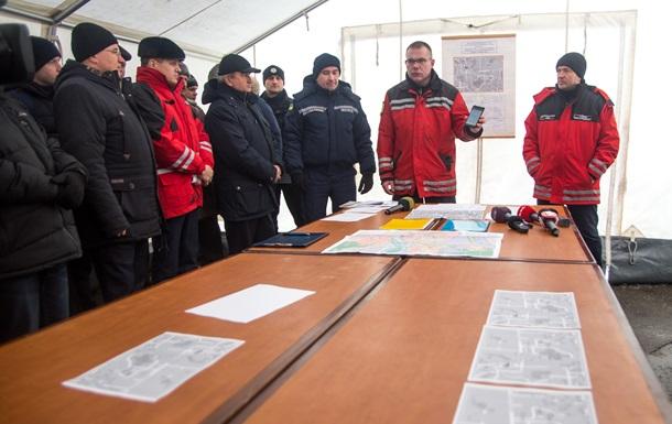 В Киеве начались масштабные учения спасательных служб