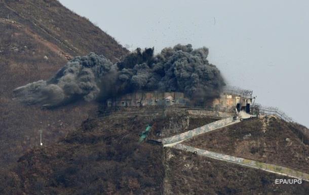 КНДР взорвала 10 постов на границе с Южной Кореей