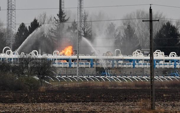 В Венгрии произошел пожар на крупном газохранилище
