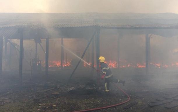 На Закарпатті сталася велика пожежа на складі