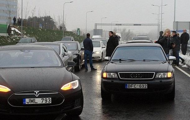 Протесты  евробляхеров : в полиции рассказали о перекрытых дорогах